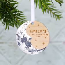 Baby S First Christmas Tree Decoration Personalised by Baby U0027s First Christmas Moon Tree Ornament By Betsy Benn