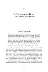 2 health status and health care service utilization retooling