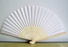 wholesale fans white wedding silk fan wholesale free postage uk no cost