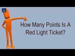 red light ticket points how many points is a red light ticket youtube