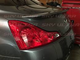 painted oe type trunk spoiler wing for infiniti g37 v37 coupe 2008