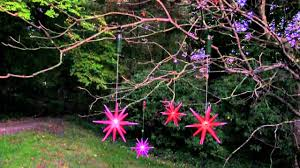 color changing led 8in starburst outdoor ornaments