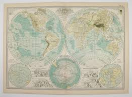 Blank Map Of Eastern Hemisphere by Real 1899 Antique Map Of Eastern By Old Maps And Prints On Zibbet
