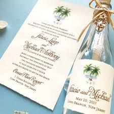 stacie beach wedding invitation in a bottle mospens studio
