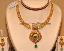 light weight gold necklace designs 37 grams antique simple necklace jewellery designs