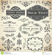 vintage ornament calligraphy set royalty free stock photos image