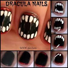 dracula nails for halloween makeup pinterest halloween