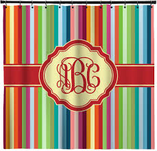 Vertical Striped Shower Curtain Retro Vertical Stripes Shower Curtain Personalized Potty