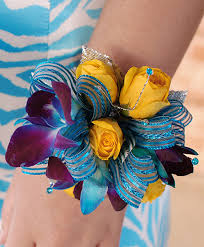 Prom Corsage Blue U0026 Yellow Prom Corsage Prom Flowers In Llano Tx Hometown