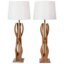 Beautiful Lamps Beautiful Mid Century Modern Danish Style Teak Wood Table Lamps At