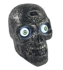 amazon com sound activated skull with glowing eyes and creepy