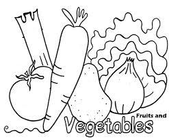 colouring worksheet on fruits and vegetables classy coloring