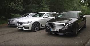 bmw vs mercedes bmw 7 series vs mercedes s class vs audi a8 2017 luxury limo