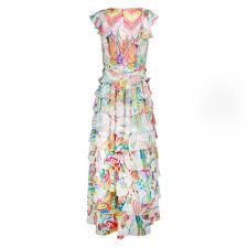 roberto cavalli kids girls silk floral maxi dress roberto