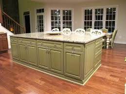 top kitchen with white painted cabinets and green island my home image of colors for kitchen islands