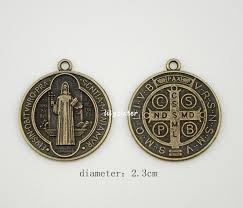 catholic pendants catholic religious gifts st st benedict holy medal charm