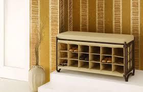 shoe storage bench with shoe cubbies