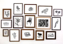 black and white illustrations and a variety of frames simple yet