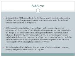 Sas 70 Report Exle by Regulatory Compliance And You Ppt