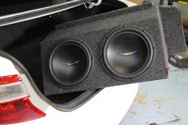 toyota camry trunk toyota camry subwoofer box enclosure dual 12