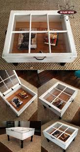 furniture diy coffee tables ideas white square window shaped