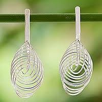 thailand earrings thailand silver drop earrings flowers heart earrings