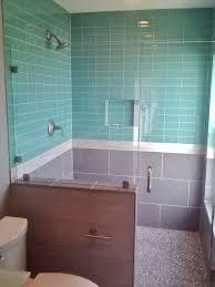 bathroom tile black splash tile glass subway tile backsplash sea