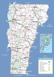 Florida Towns Map Large Detailed Tourist Map Of Vermont With Cities And Towns