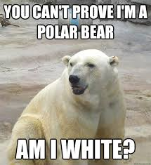 Polar Bear Meme - you can t prove i am a polar bear funny meme