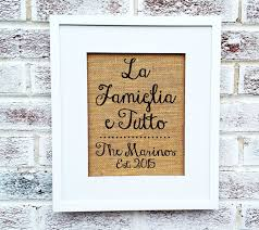 Lord Of The Rings Home Decor by Amazon Com Italian Sayings La Famiglia E Tutto The Family Is