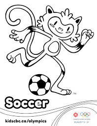 olympic games colouring sheet soccer play free sports