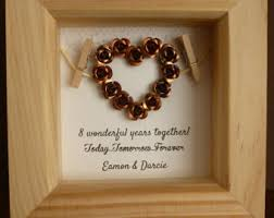 8th anniversary gift ideas for bronze anniversary etsy