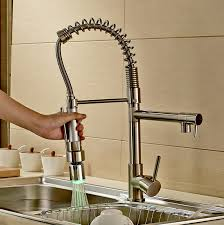 brushed nickel single handle kitchen faucet rozinsanitary contemporary single handle two spouts kitchen sink