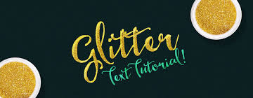 learn how to create a gold glitter text effect in photoshop