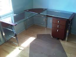 Glass Top Desk Office Depot DesksComputer Desk With Glass Top