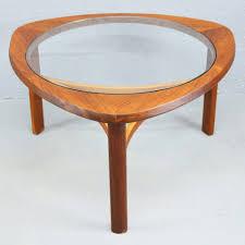 vintage glass coffee table mid century vintage teak u0026 glass coffee table by nathan pedlars