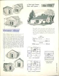 expansible homes designed to grow 1952 vintage house plans 1950s