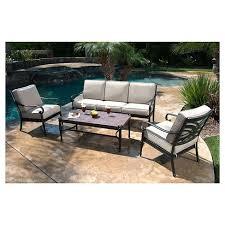 Metal Patio Furniture Sets Kent 4 Metal Patio Conversation Furniture Set Target