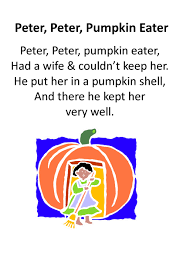 halloween party rhymes itty bitty rhyme peter peter pumpkin eater itty bitty