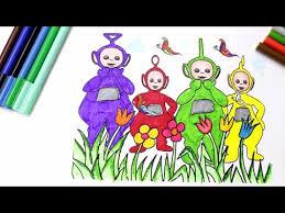 learn colors kids color teletubbies coloring