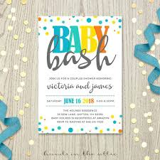 inspirational baby shower invitation wording coed or baby bash