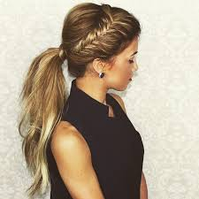 layer hair with ponytail at crown fun fab bfab hair braid freelance stylist haircreation