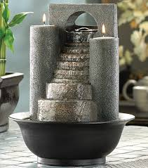 indoor water fountain eternal steps cascading water candle holder