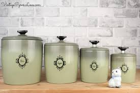 vintage kitchen canisters vintage westbend aluminum avocado green kitchen canister set flour