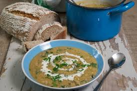 whole yellow pea and mushroom soup gourmet gurus salads soups