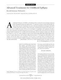 advanced treatments for childhood epilepsybeyond antiseizure