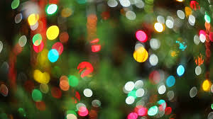 lights blurred bokeh background from christmas night party for