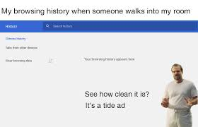 Search History Meme - browsing history it s a tide ad know your meme