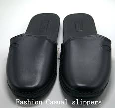 mens leather bedroom slippers leather bedroom slippers fashion classical indoor men slippers shoes