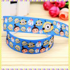 minion ribbon aliexpress buy 7 8 free shipping tsum minion printed